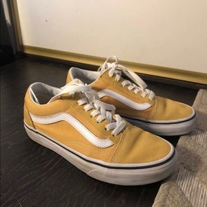 Yellow Old Skool Vans ~ Size 6.5 Women 5.0 Men